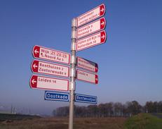 fietsborden in Zoetermeer